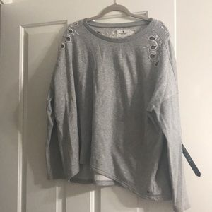 light grey embroidered american eagle pullover!